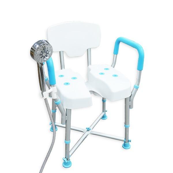 【五星評價】靠背洗臀洗澡椅(含發泡扶手)(台灣製造)