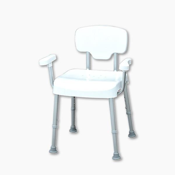 【五星評價】免工具靠背扶手耐重型洗澡椅(台灣製造)