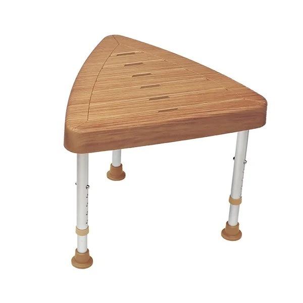 仿木紋三角洗澡椅(台灣製造)