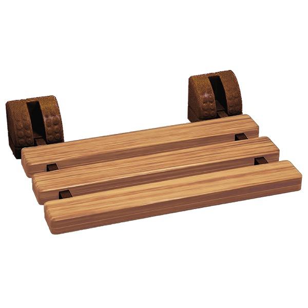 仿木紋壁掛式折疊洗澡椅(台灣製造)