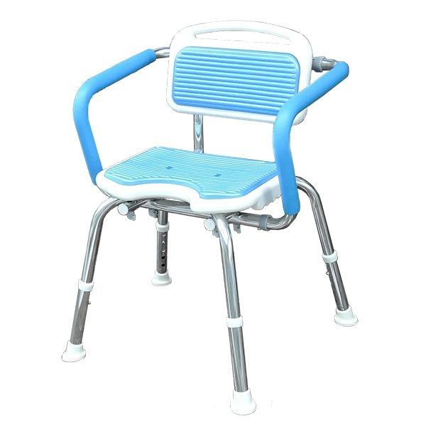 免工具軟墊靠背扶手洗澡椅(台灣製造)
