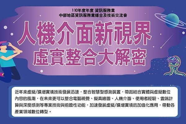110/07/23(五)人機介面新視界x虛實整合大解密 研討會