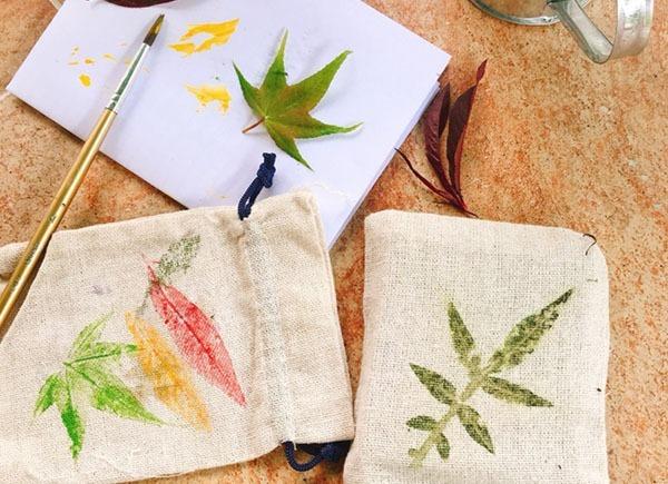 植物拓染DIY